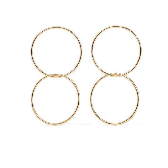 Gold-plated Hoop Earrings