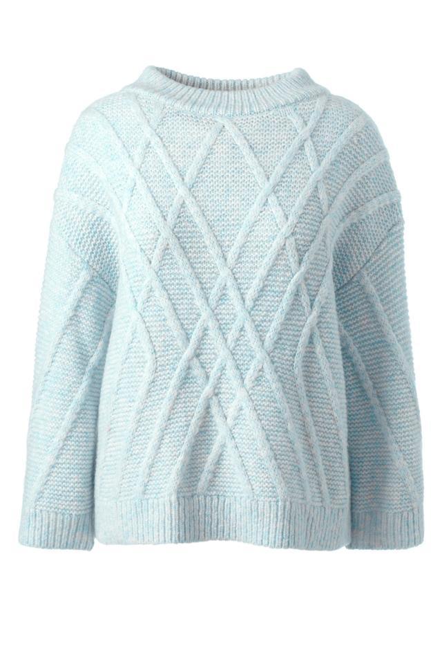 Land's End Alpaca Blend 3/4 Sleeve Sweater