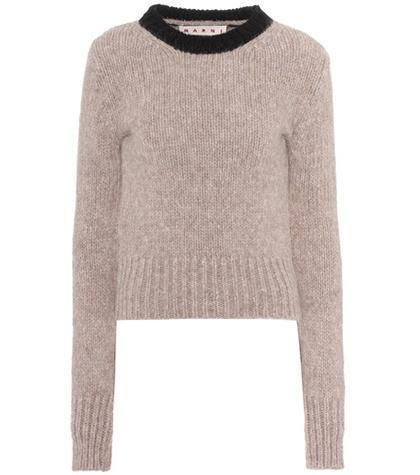 Alpaca and wool-blend sweater