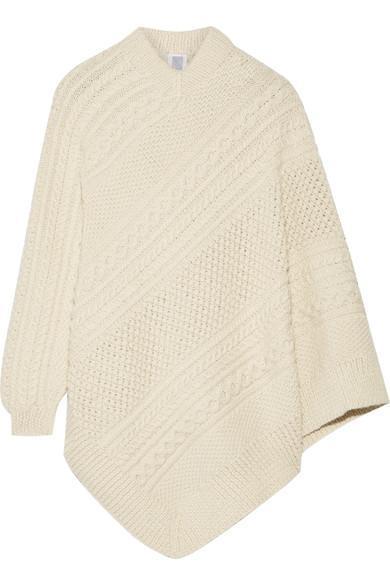 Grandma Elanor's Cable-knit Alpaca Poncho