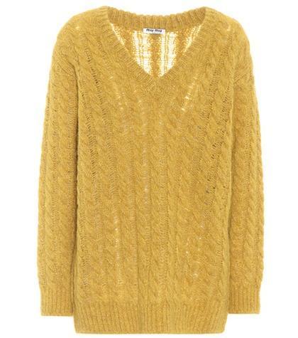 Oversized alpaca-blend sweater