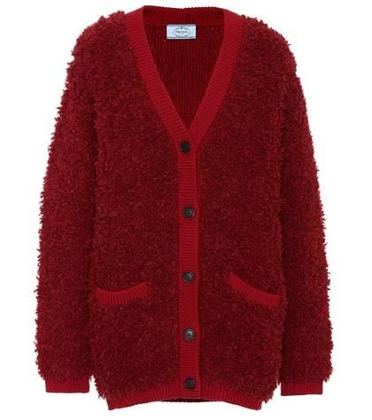 Alpaca and wool-blend cardigan