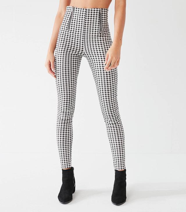 Miller Gingham Skinny Zipper Pant