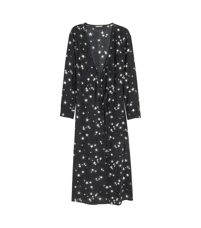 Patterned Wrap Dress