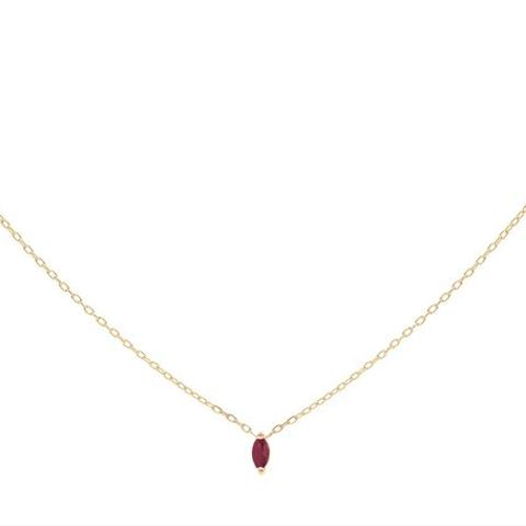 Rise Ruby Charm Necklace