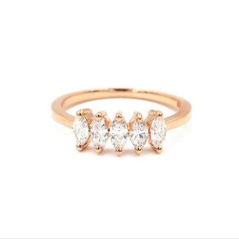 Marquise Diamond Pinky Ring