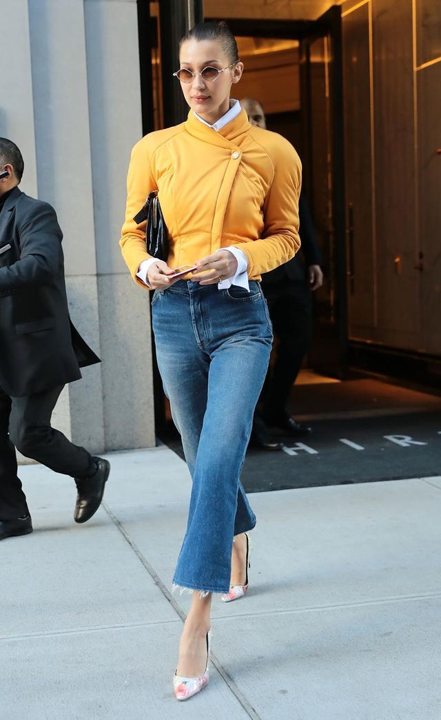 On Bella Hadid: Chrome Hearts sunglasses Similar Styles:South Beach Diamond Frame Sunglasses ($23); AkrisShiver Jacket ($430); MotherThe Hustler Ankle Fray Jeans ($228); Cole...