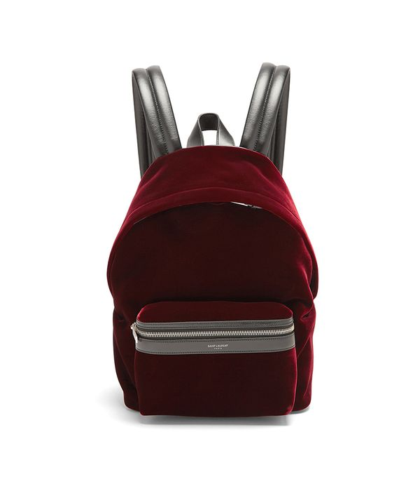 City velvet backpack