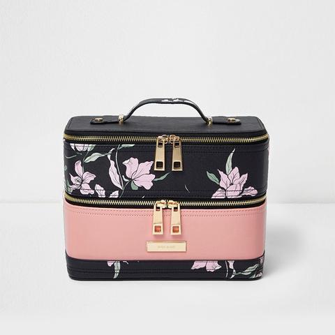 Floral Print Vanity Case