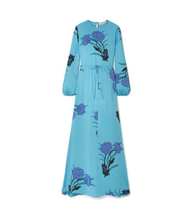 Printed Silk-blend Maxi Dress