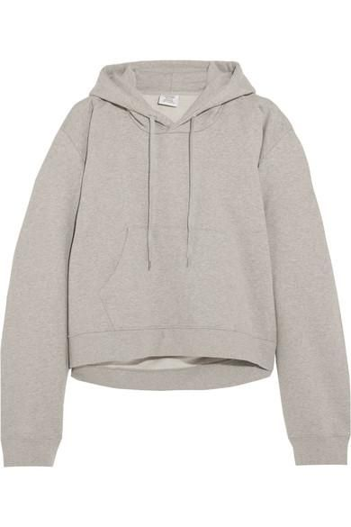 Printed Cotton-blend Jersey Hooded Top