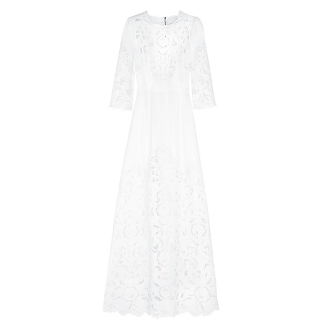 wedding dress 2017: Dolce & Gabbana Cutout Crepe Gown
