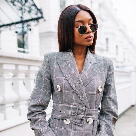 best Zara pieces 2017: checked blazer dress