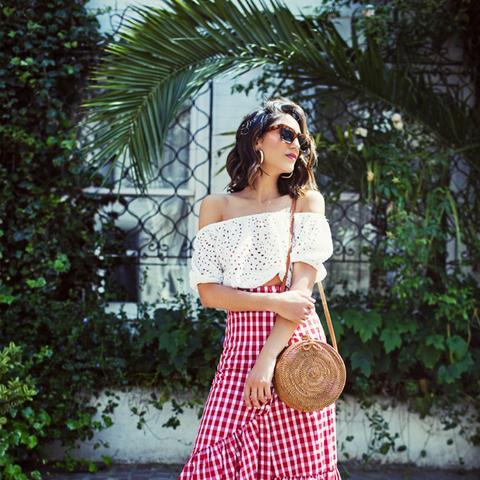 best Zara pieces 2017: gingham skirt