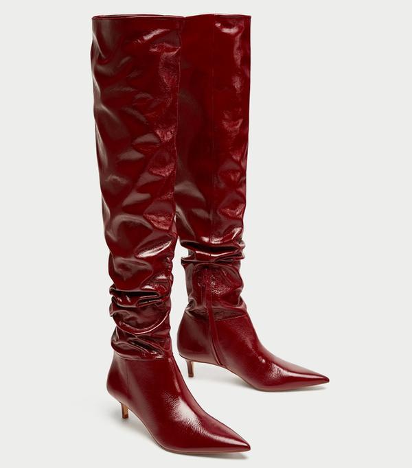 Zara Gathered Boots