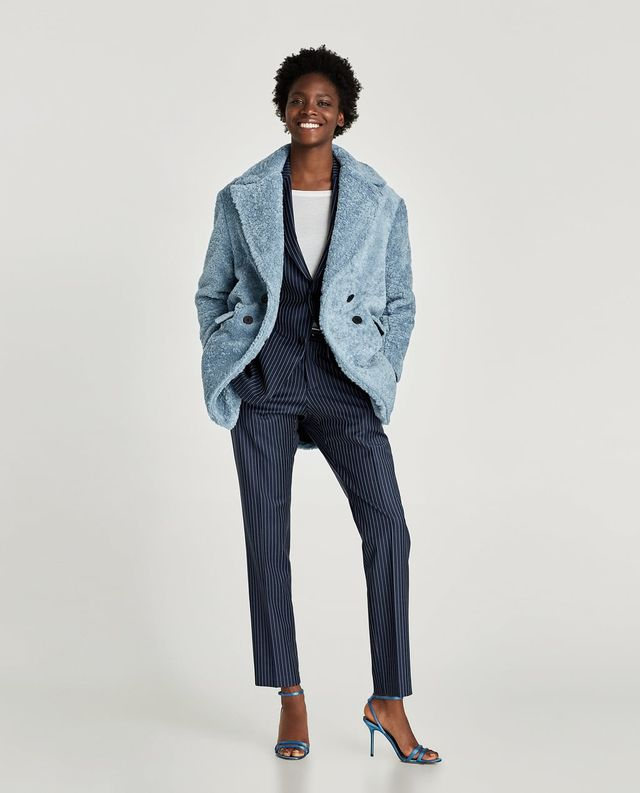 TEXTURED COAT WITH LAPELS