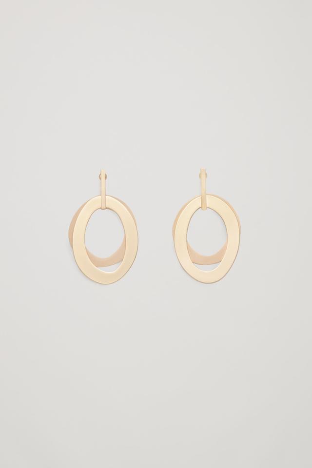 COS Layered Metal Earrings