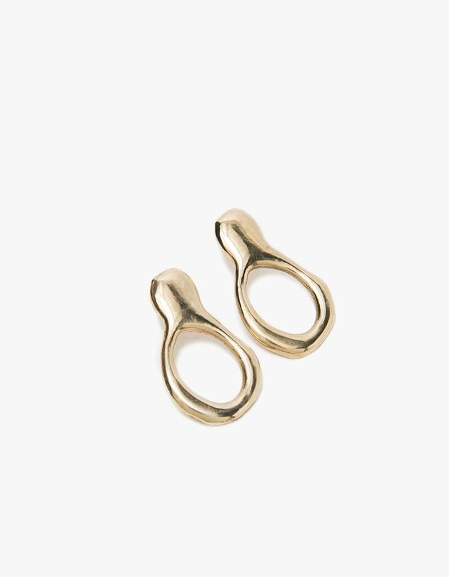 Free Form Earrings in Brass