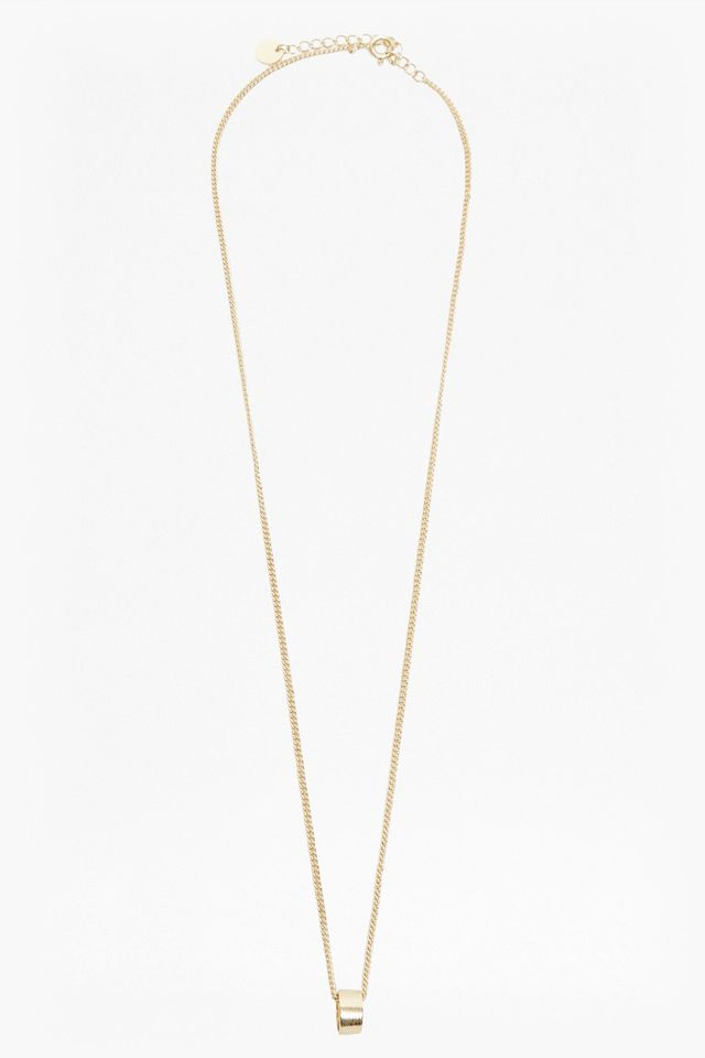 French Connection Pendulum Mini Ring Necklace
