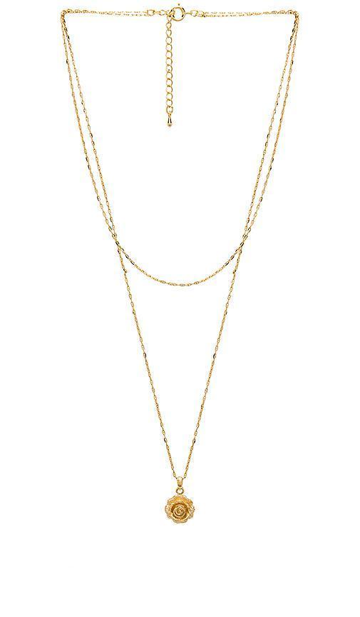Carmen Necklace in Metallic Gold.