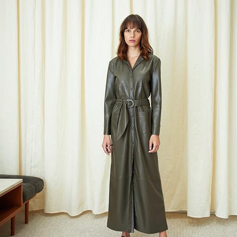 Susane Vegan Leather Dress