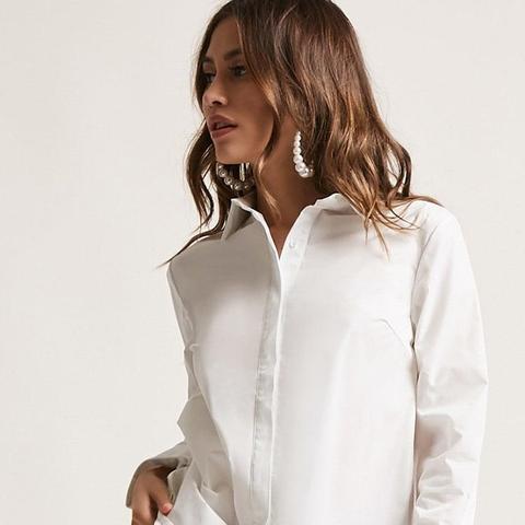 Cuffed Button-Down Shirt