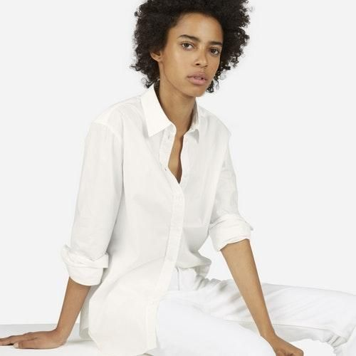 Women's Relaxed Poplin Shirt by Everlane in Off White, Size 10