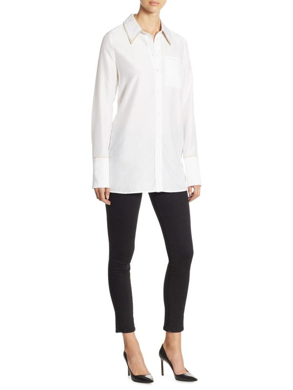 Blake Oversize Cotton Button-Down Shirt