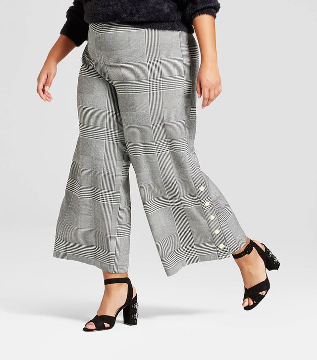 Who What Wear Side Snap Cropped Trouser