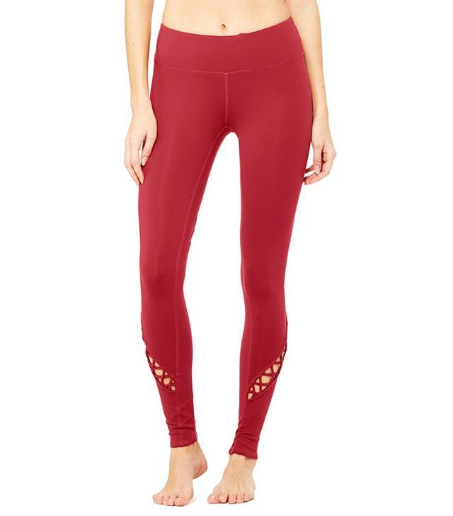 Alo Entwine Leggings in Red Velvet