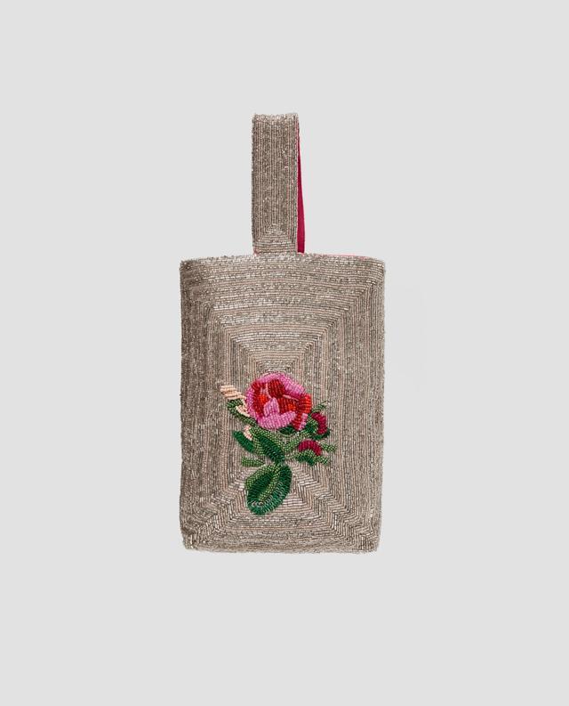 Zara Floral Beaded Bag