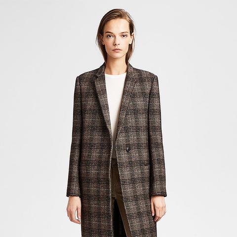 Wool Plaid Essential Coat