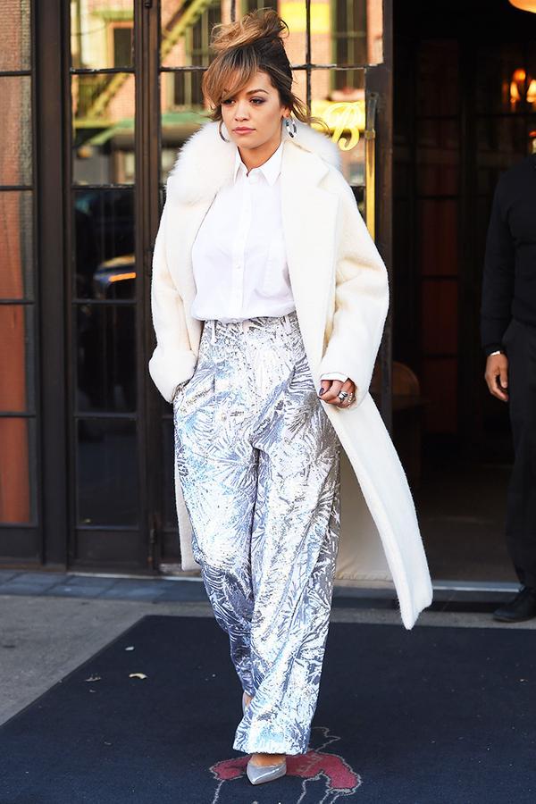 rita ora white coat