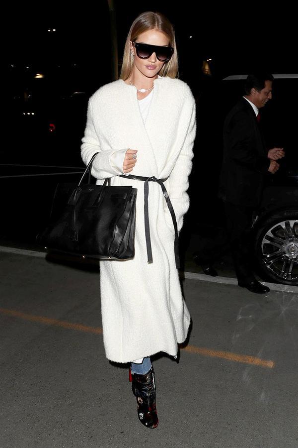 rosie huntington-whiteley white coat