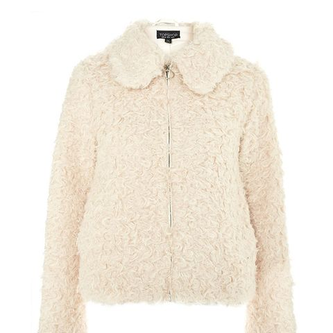 Curly Faux Shearling Jacket