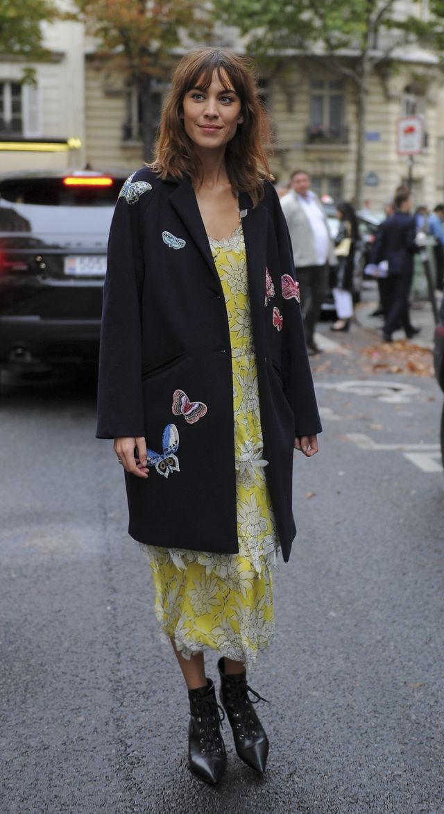 Alexa Chung wears boho style