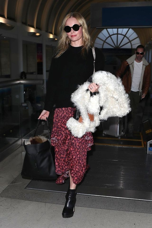 Kate Bosworth wears boho dress.