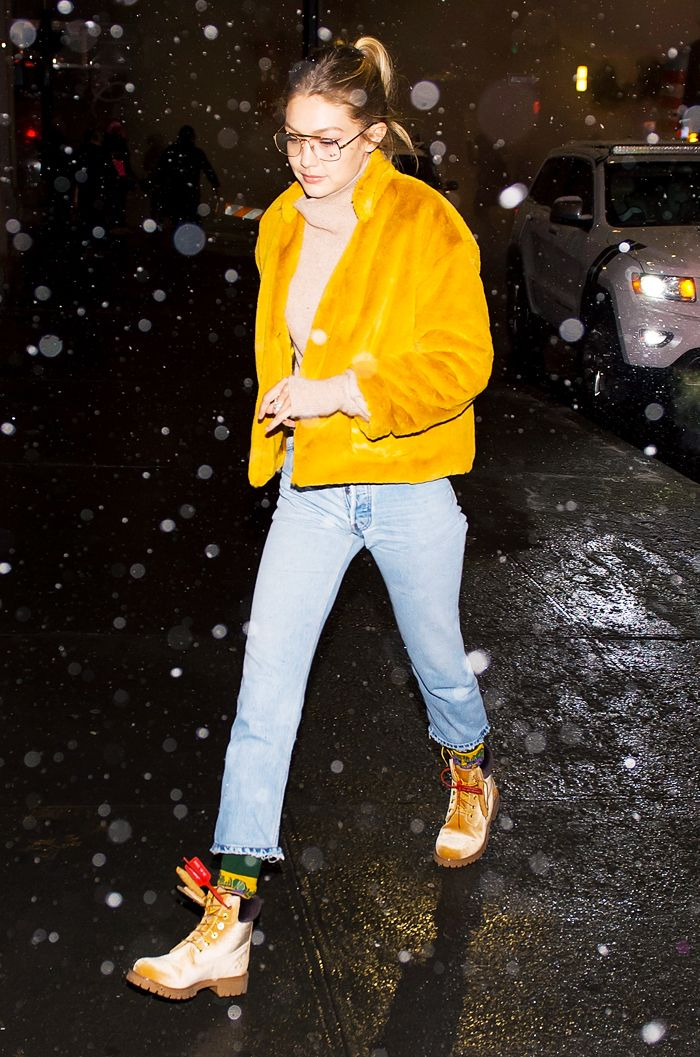 Gigi Hadid timberland bootsO