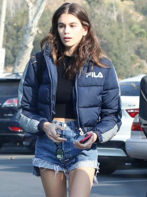 Kaia Gerber Wore the L.A. Girl's Version of This Classic Winter Trend