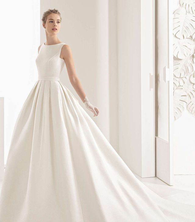 The wedding dress styles that will be huge in 2018 whowhatwear au womens rosa clara couture navres lace back pique gown junglespirit Image collections
