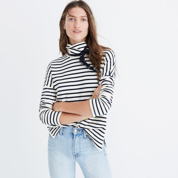 Madewell Sailor Stripe Turtleneck Top