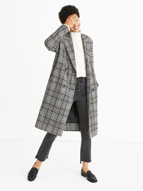 Madewell Plaid Goodwin Oversized Topcoat