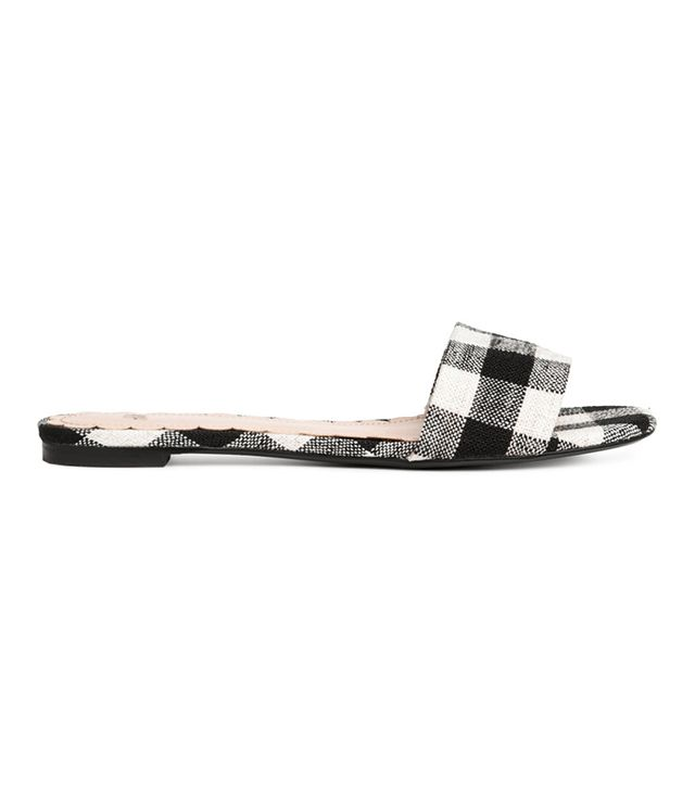 H&M Mules in Black/White Checkered