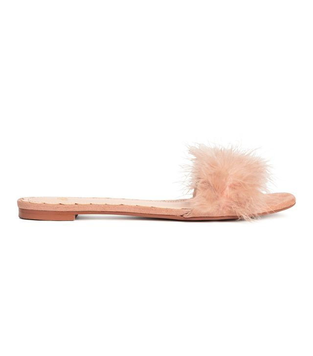 H&M Mules in Powder Pink