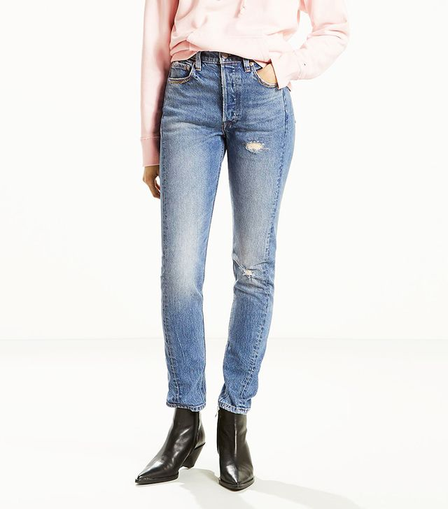 Levi's 501 Altered Skinny Jeans in Moody Blues