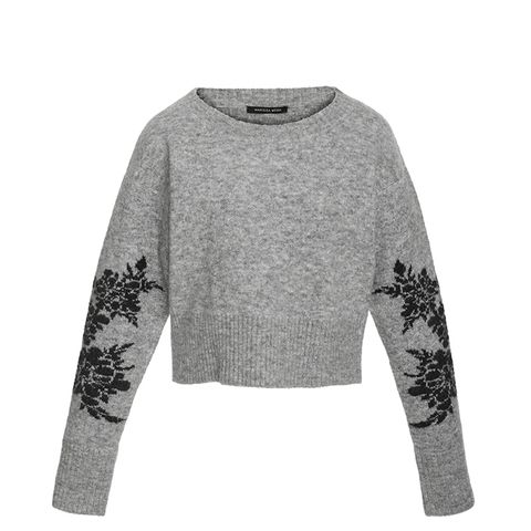 Freda Floral Cropped Sweater