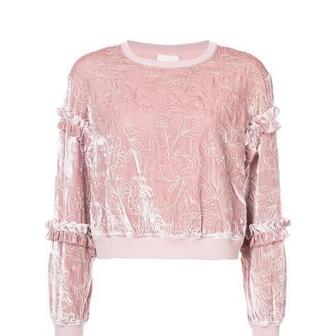 Floral Embroidered Sweatshirt