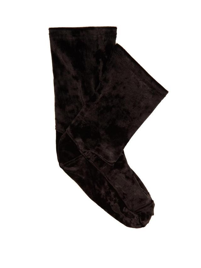Crushed-velvet ankle socks