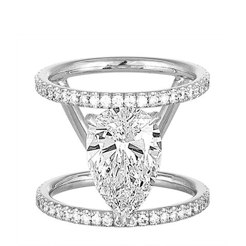 Open Double Band Engagement Ring