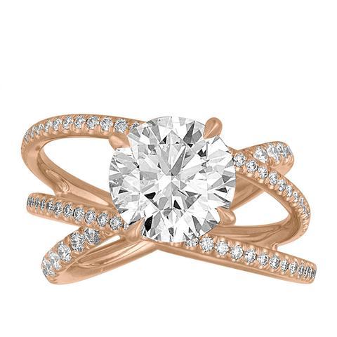 Criss Cross Engagement Ring